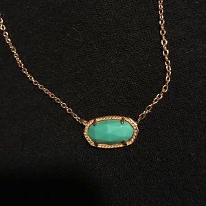 Teal Rose Gold Kendra Scott Elise Necklace
